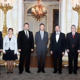 """Son Altesse Royale le Grand-Duc a reçu en audience au Palais grand-ducal une délégation du """"Sängerbond Museldall Waasserbëlleg"""""""