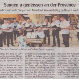 De Sängerbond an der Provence / Juli 2019